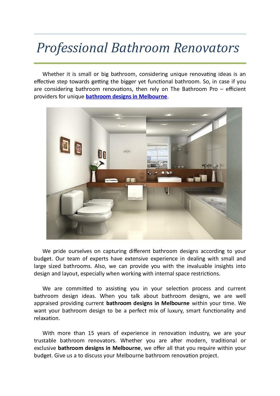 Calaméo - Professional Bathroom Renovators