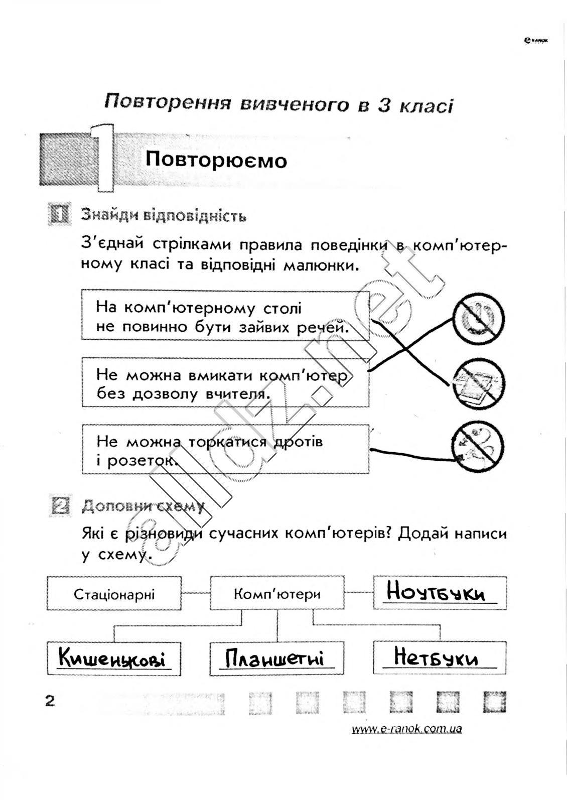 інформатика 4 клас золочевська