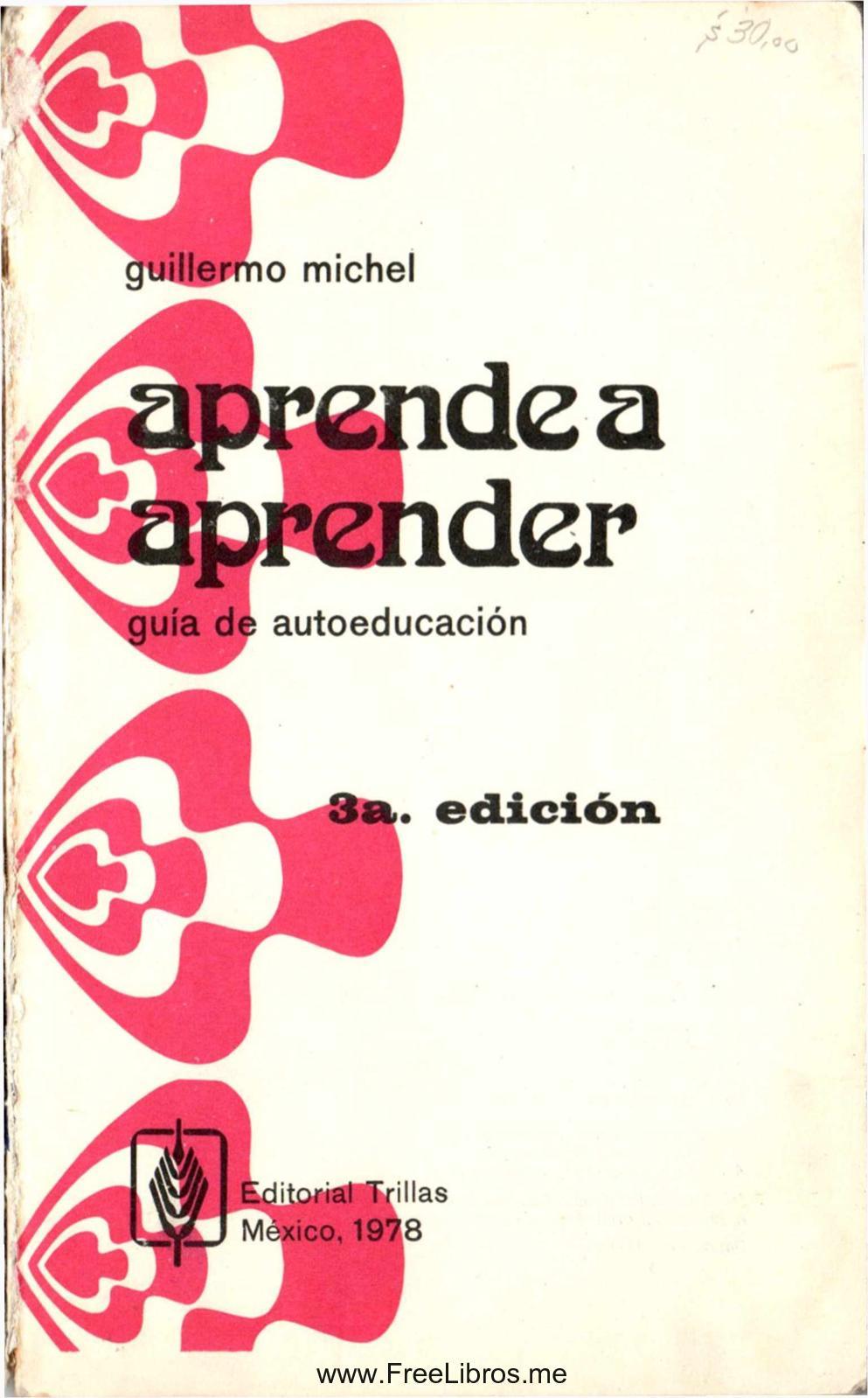 Aprender A Aprender De Guillermo Michel
