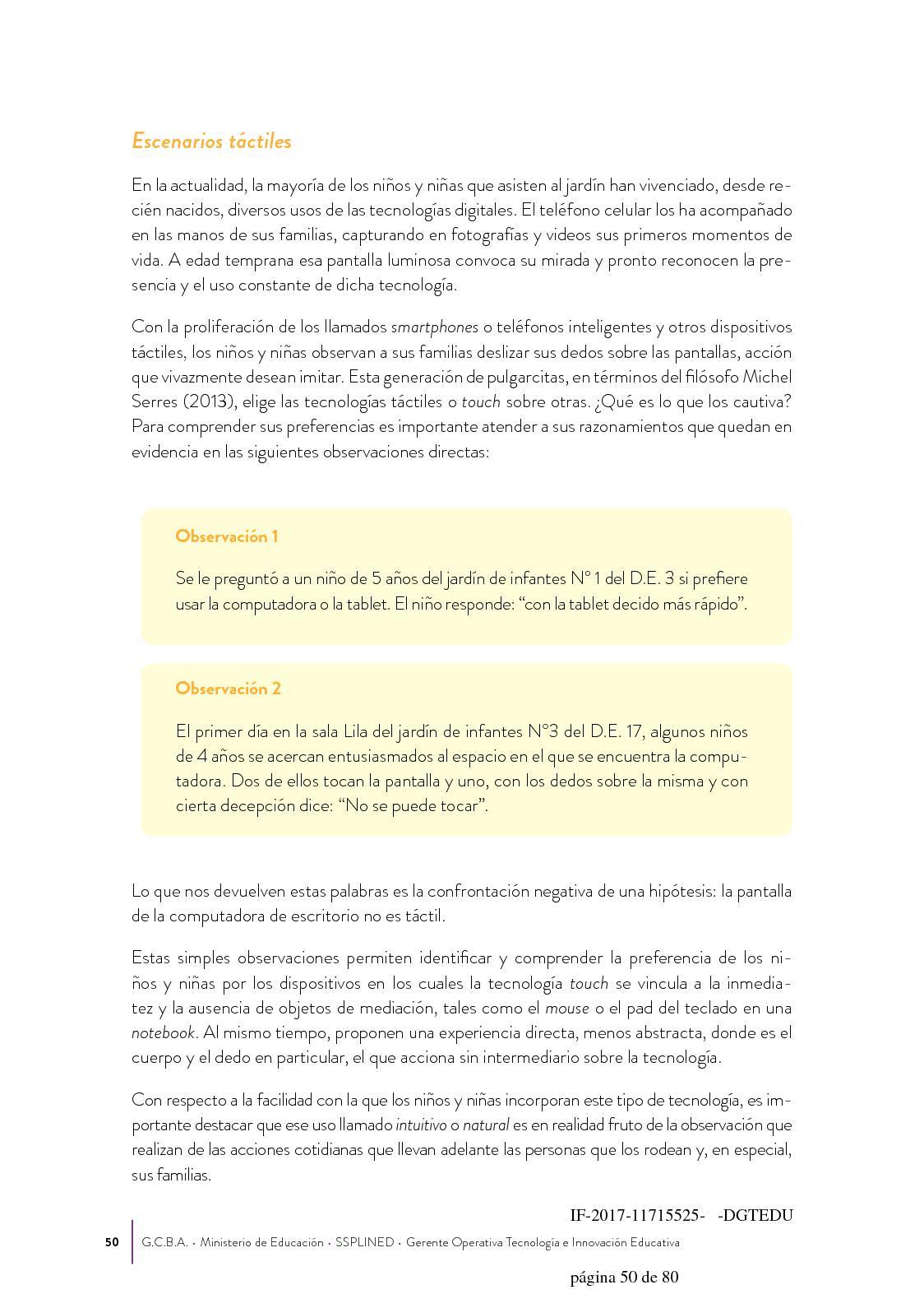 Marco Pedagógico para la Educación Digital en el Nivel Inicial ...