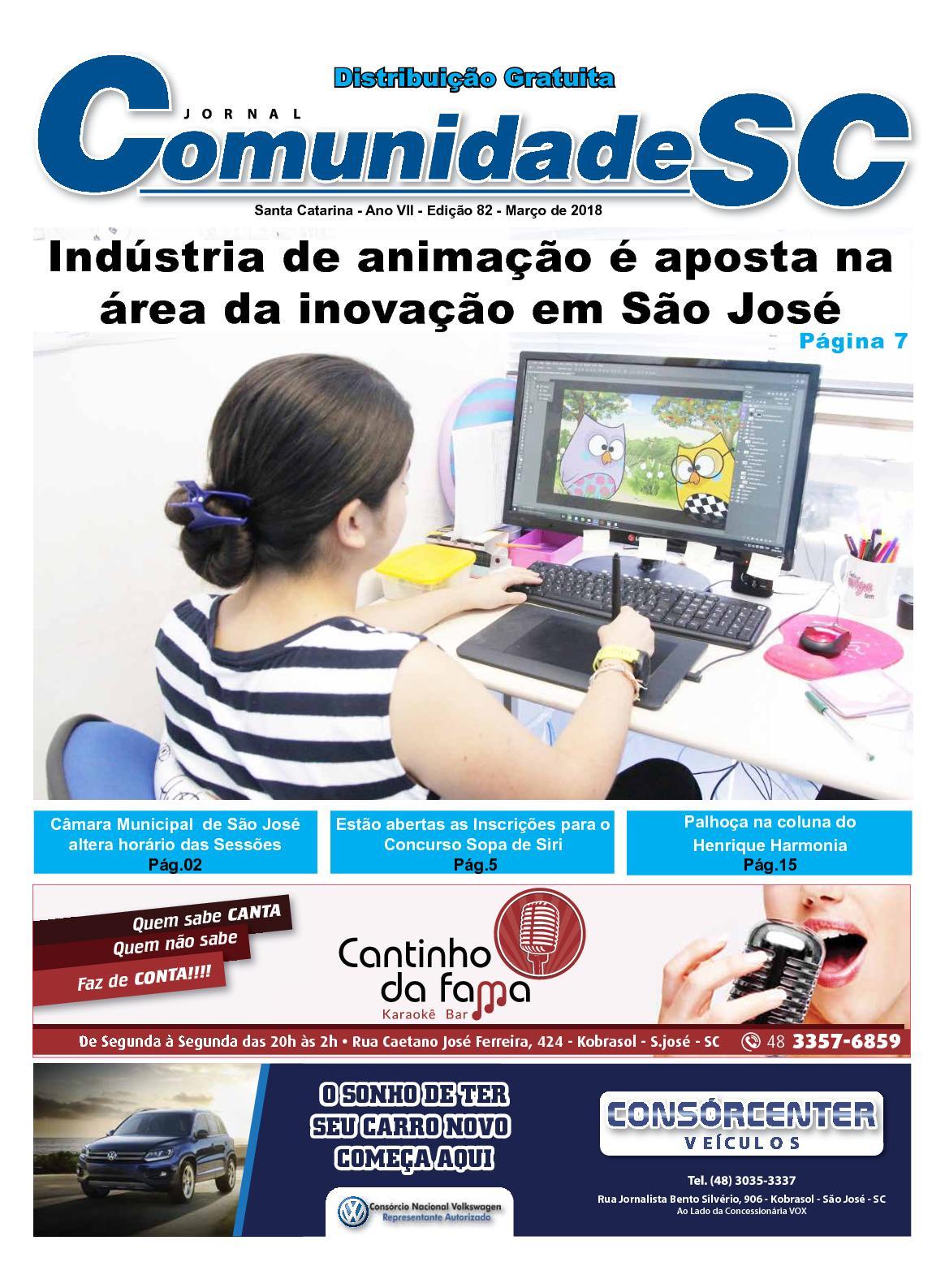 Edição Março 2018 - Jornal Comunidade SC