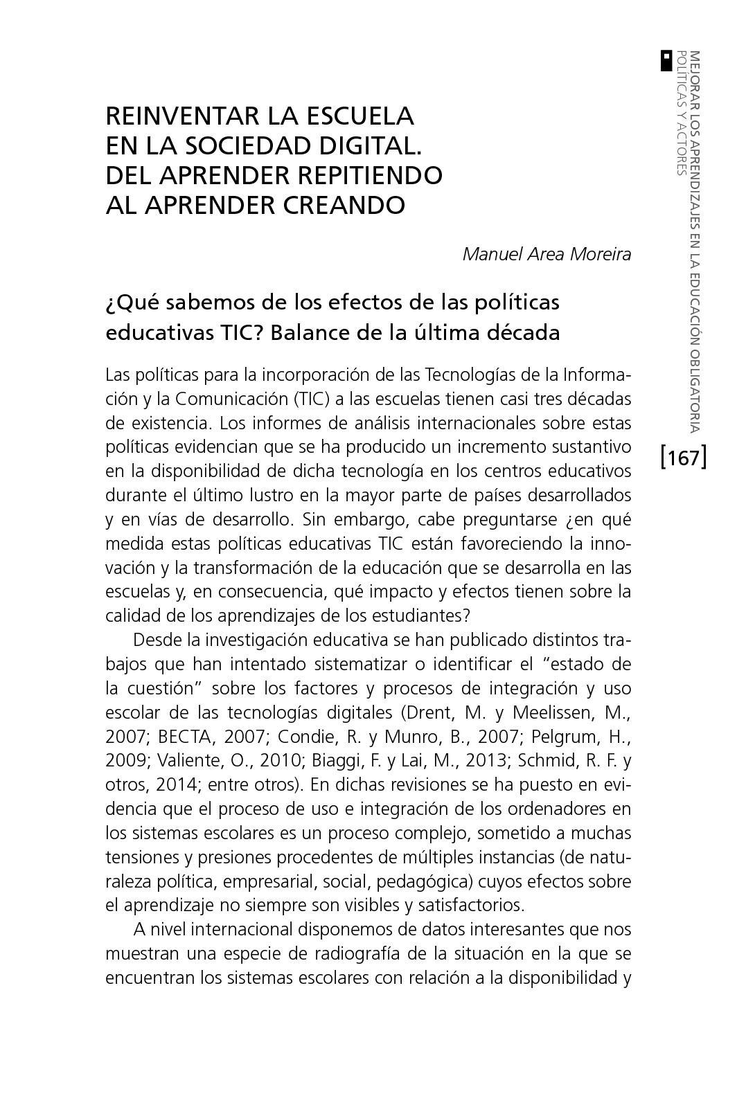 Calaméo - Reinventar La Escuela Manuel Area 2015