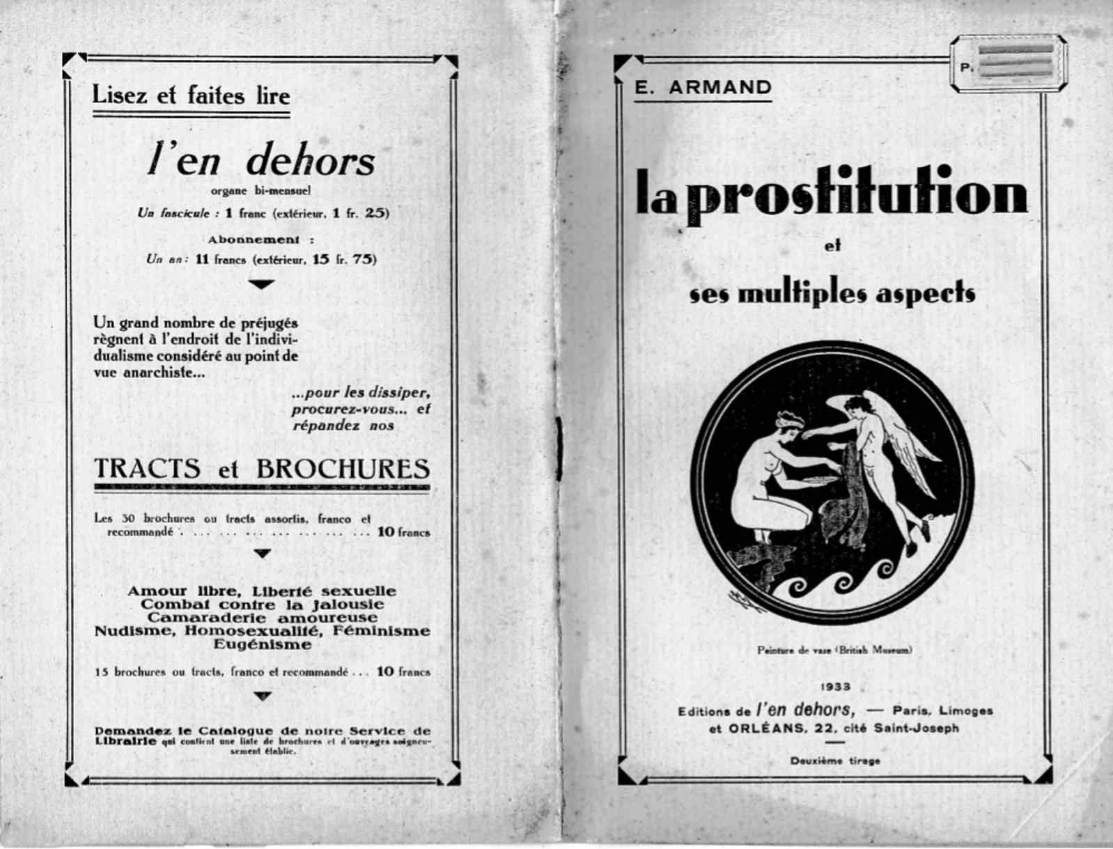 « La Prostitution et ses multiples aspects », par E. Armand