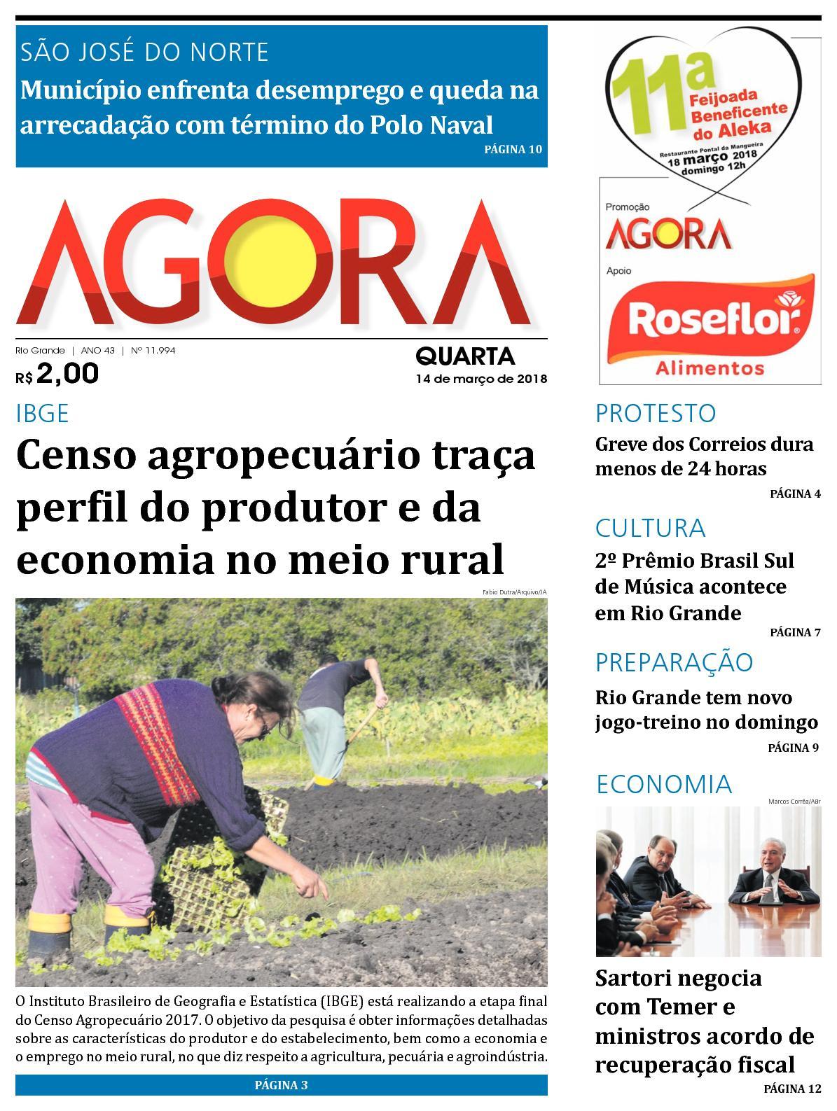 Jornal Agora - Edição 11994 - 14 de Março de 2018