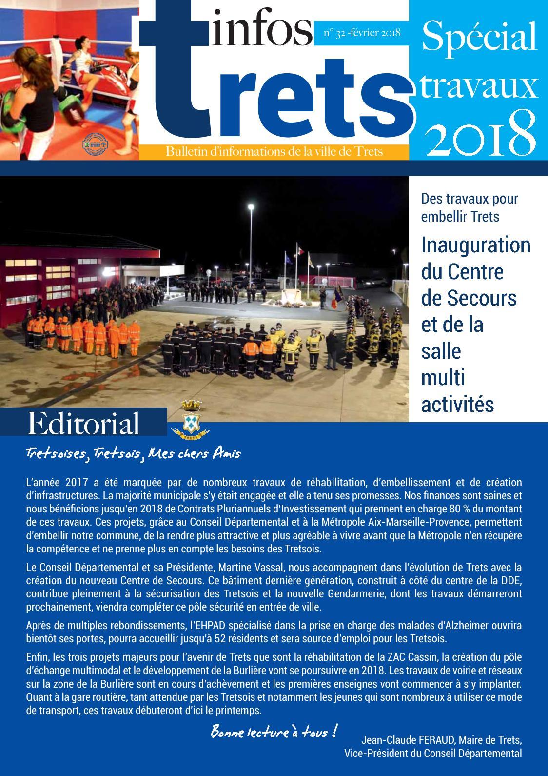 03840112662 Calaméo - Trets Infos N°32 - Spécial Travaux - Février 2018