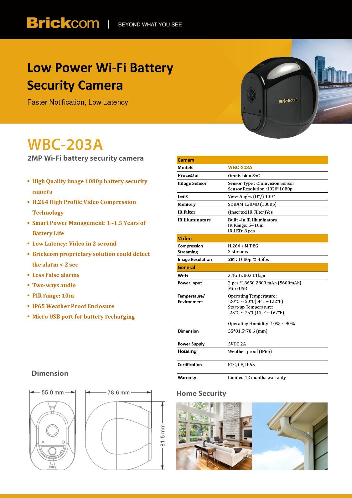 Calaméo - Brickcom WBC-203A Wifi Power Battery Camera