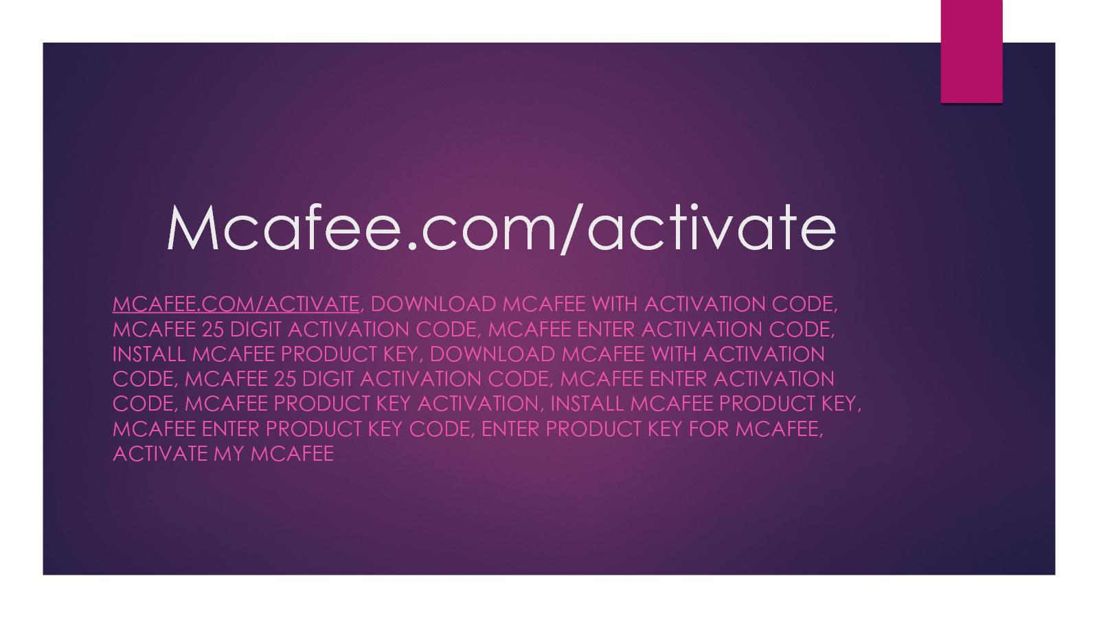 mcafee activate enter code