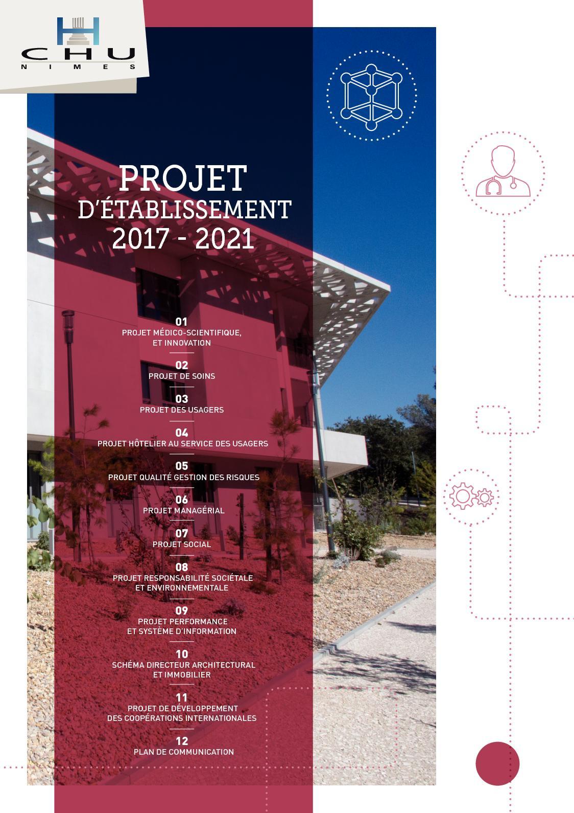 Projet Etablissement Chu Nimes 2017 2021