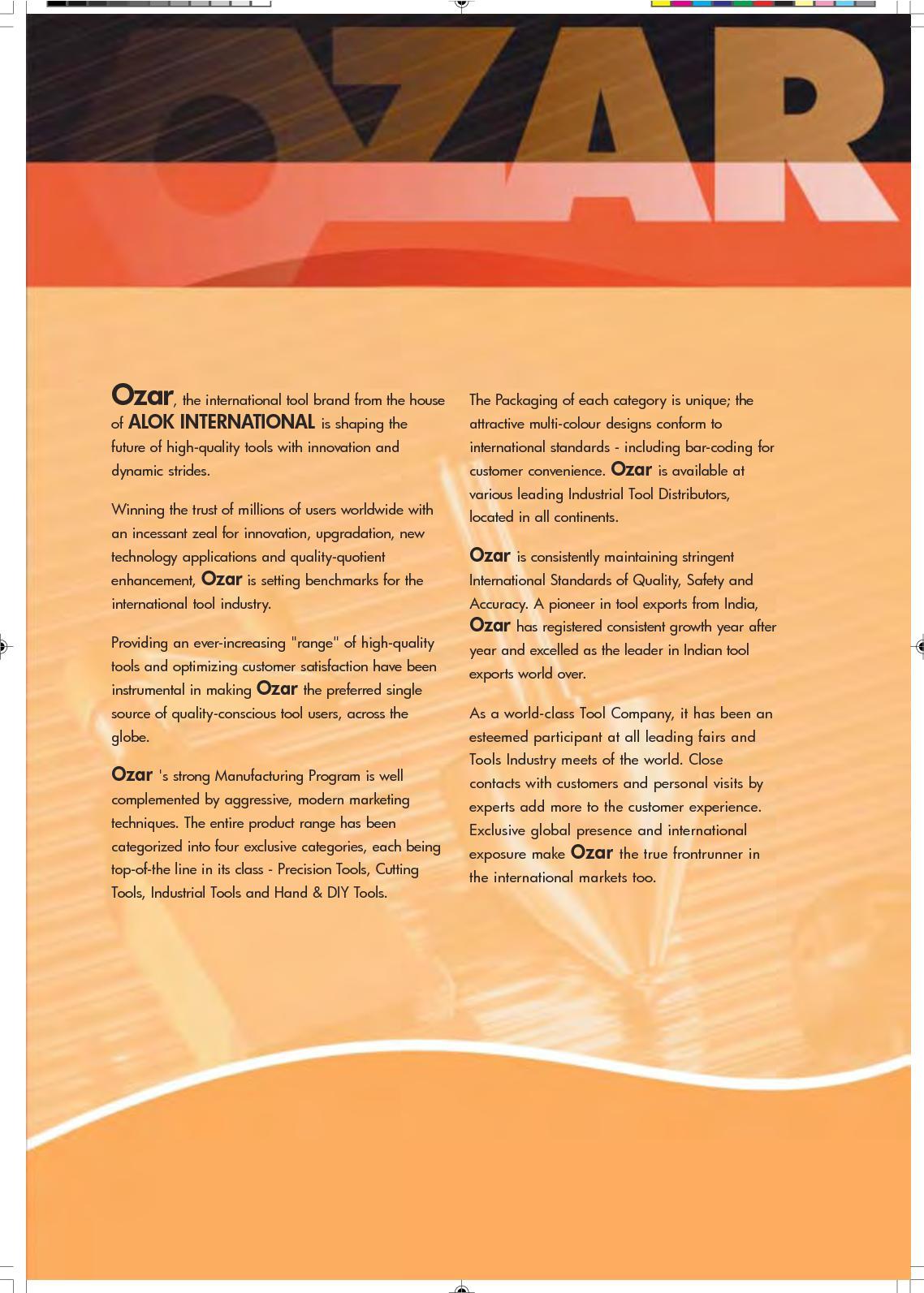 Calamo Ozar Tools Catalogue Divider Indexes 2721