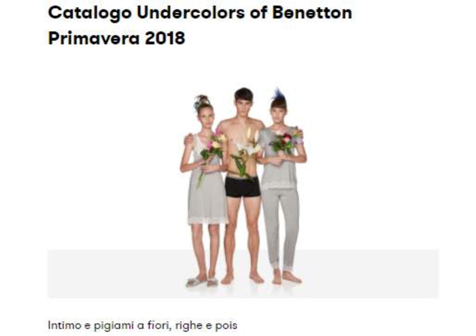 Benetton: Underwear Primavera 2018