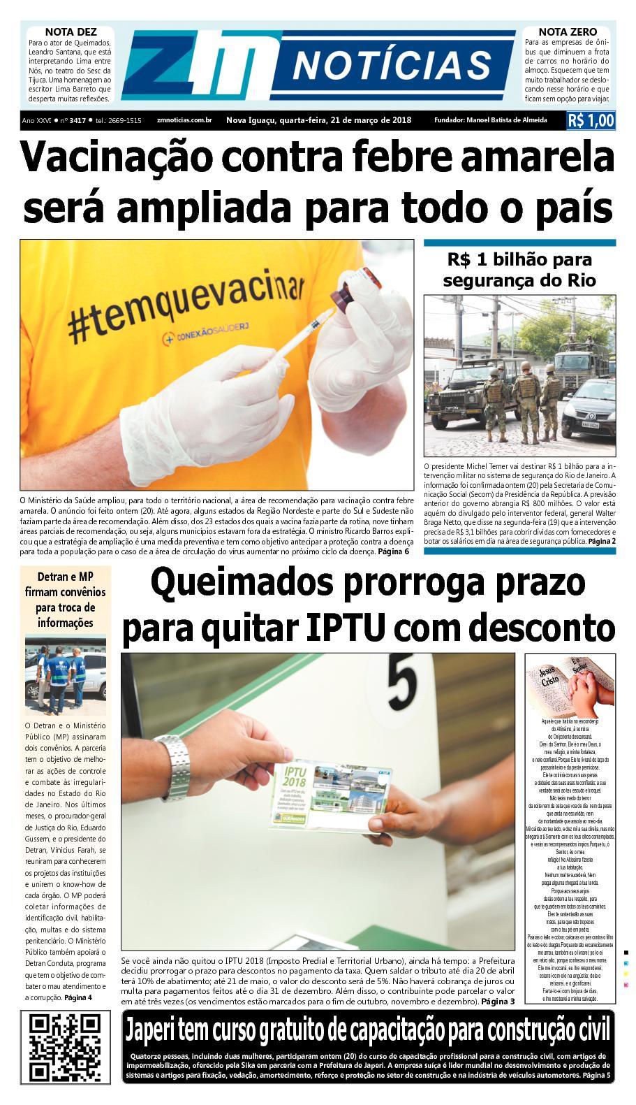 ZM Noticias - Edição 210318