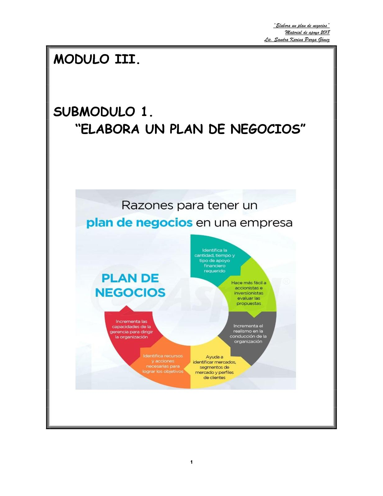 Calaméo - Plan De Negocios Manual Karina Oficial