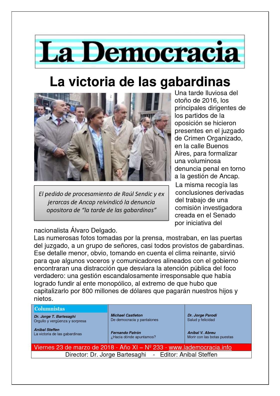 La Democracia - Nº 233 - 23/3/18