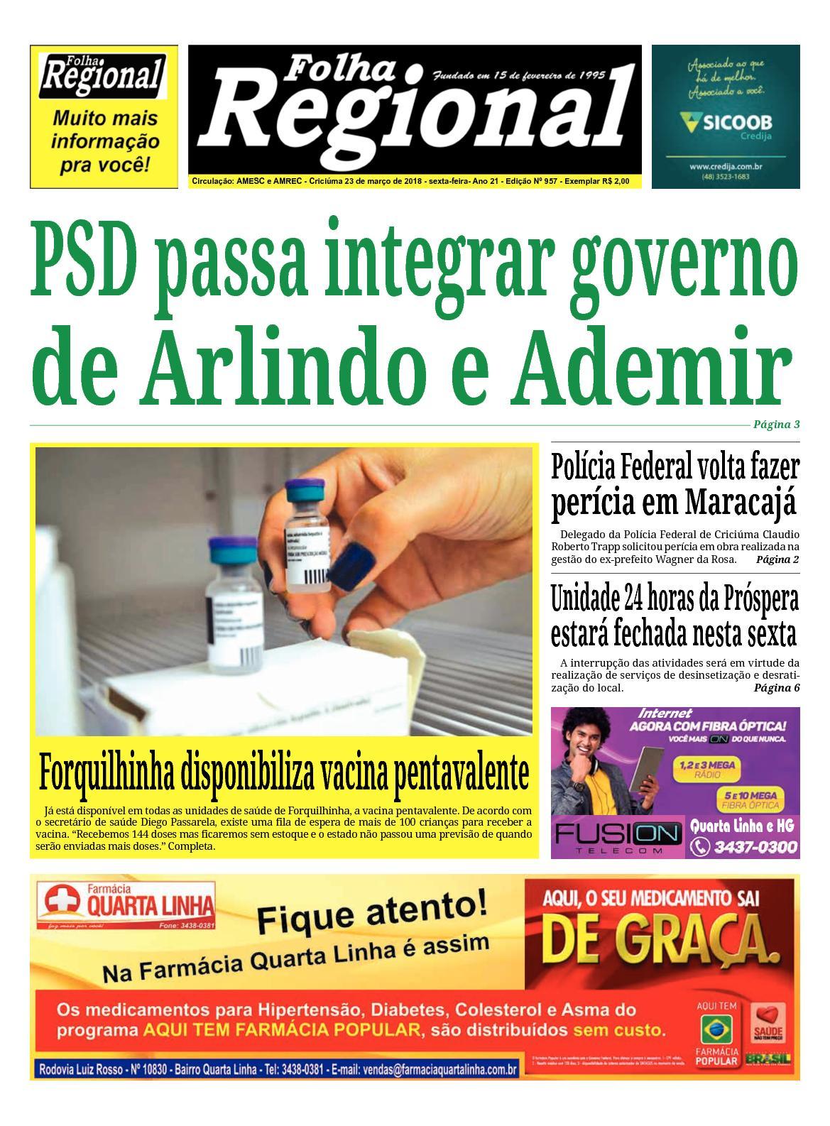 Folha Regional Ed.957 - 23/03/2018