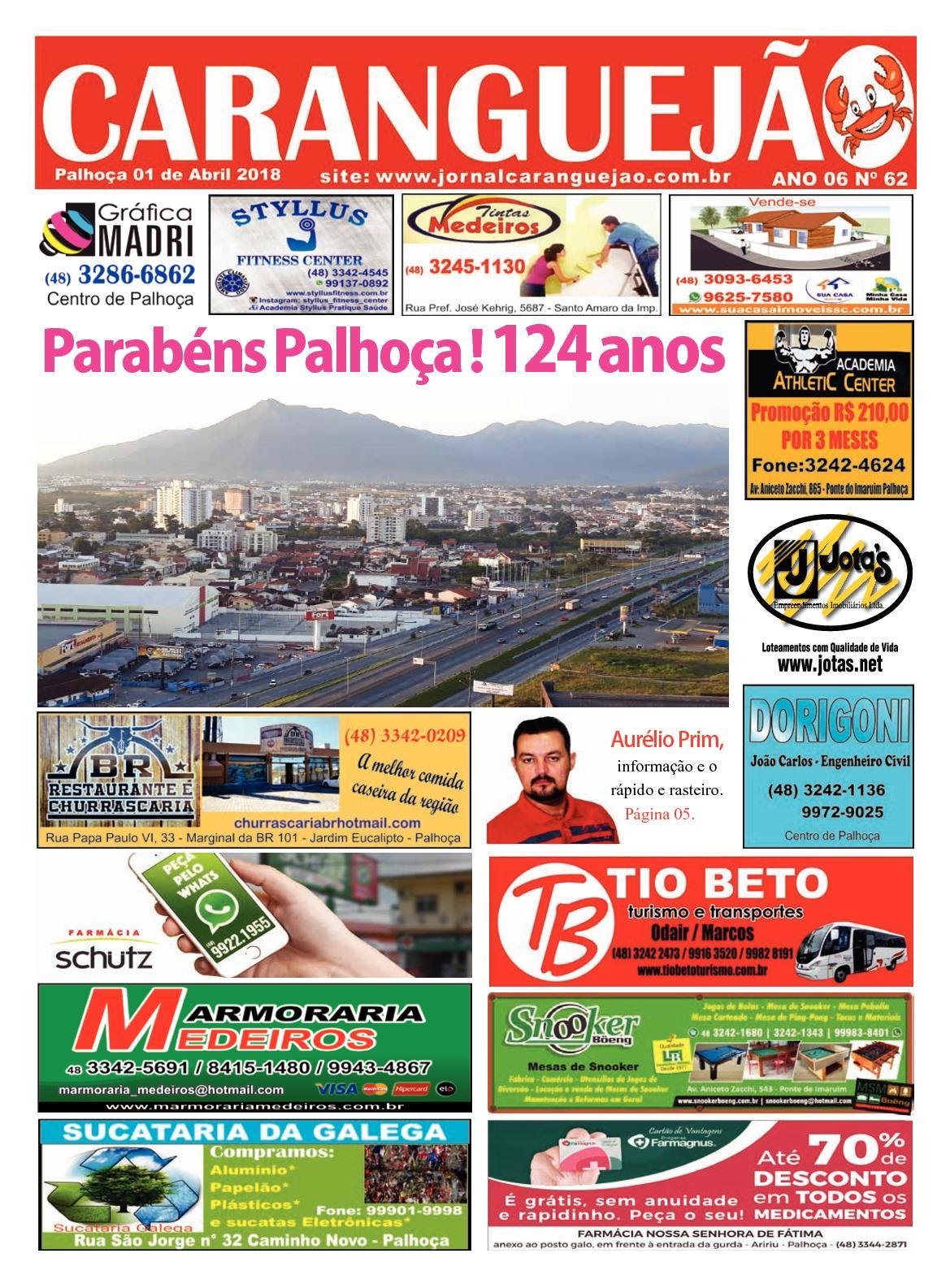 Edição n° 62 do jornal caranguejao