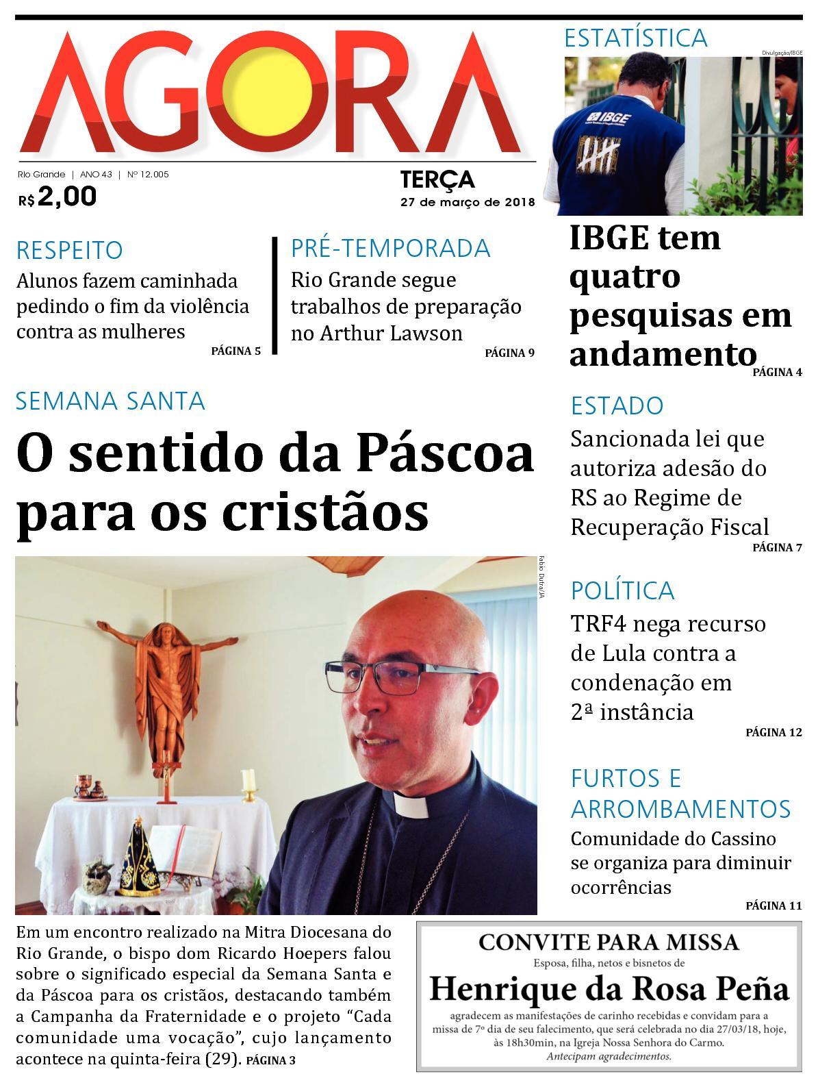 Jornal Agora - Edição 12005 - 27 de Março de 2018
