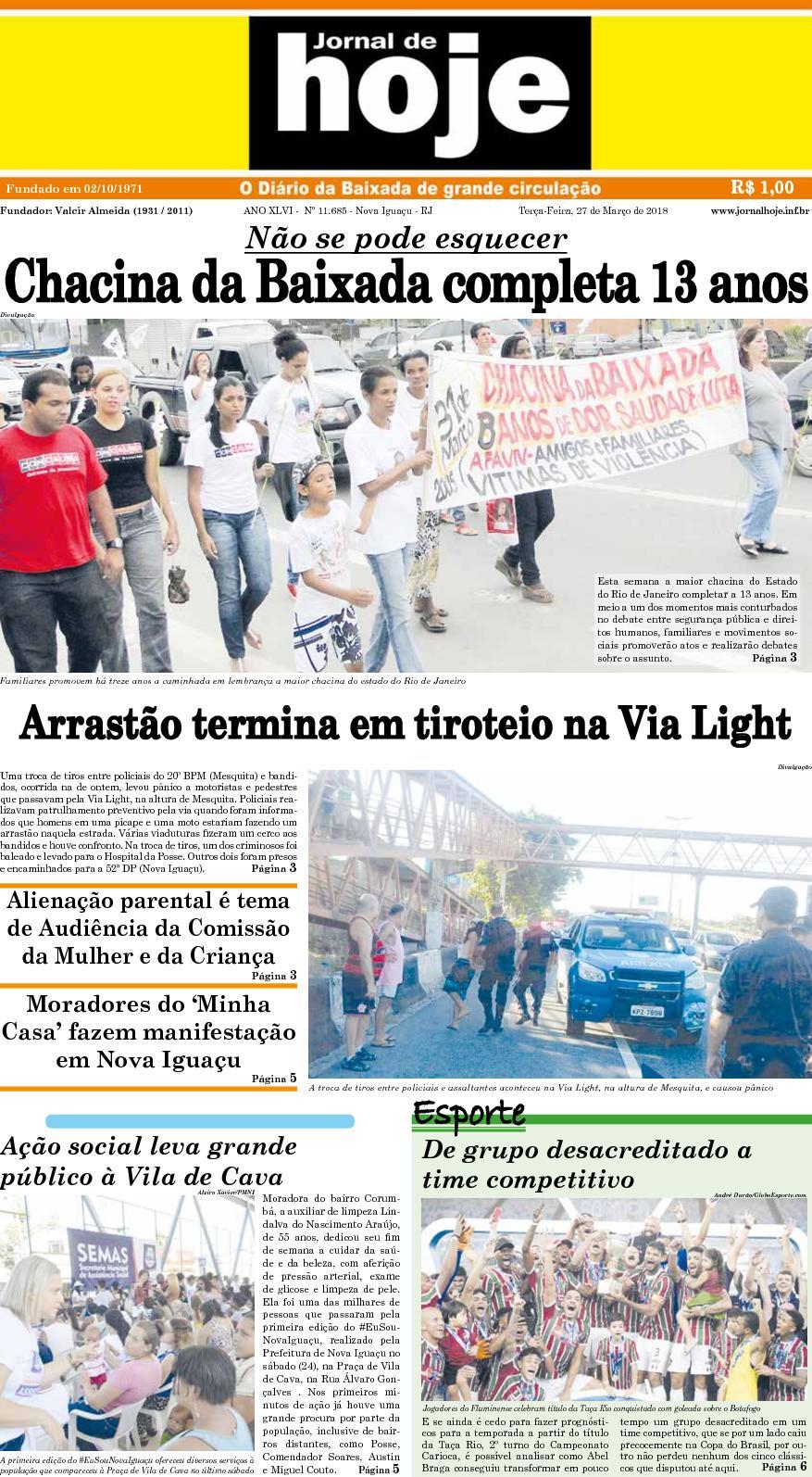 Jornal De Hoje 270318
