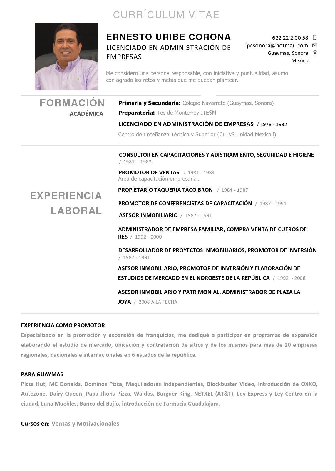 Calaméo - Cv Ernesto Uribe