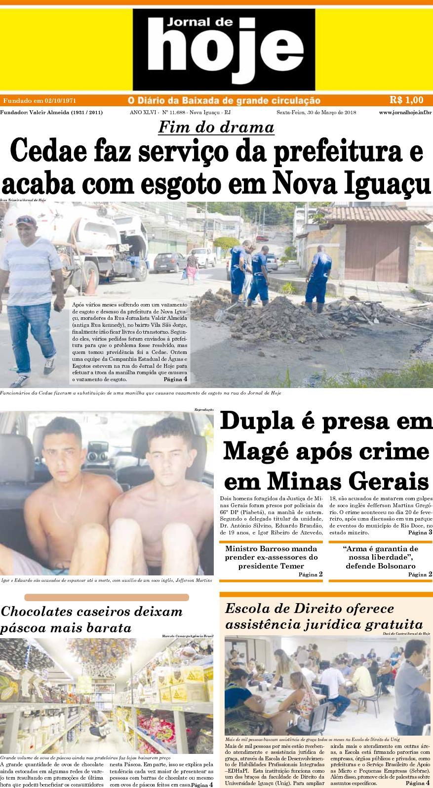 Jornal De Hoje 300318
