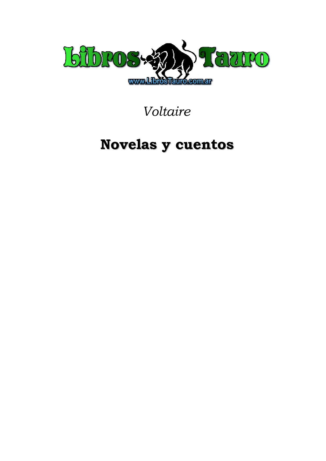 Calaméo - Voltaire - Novelas Y Cuentos