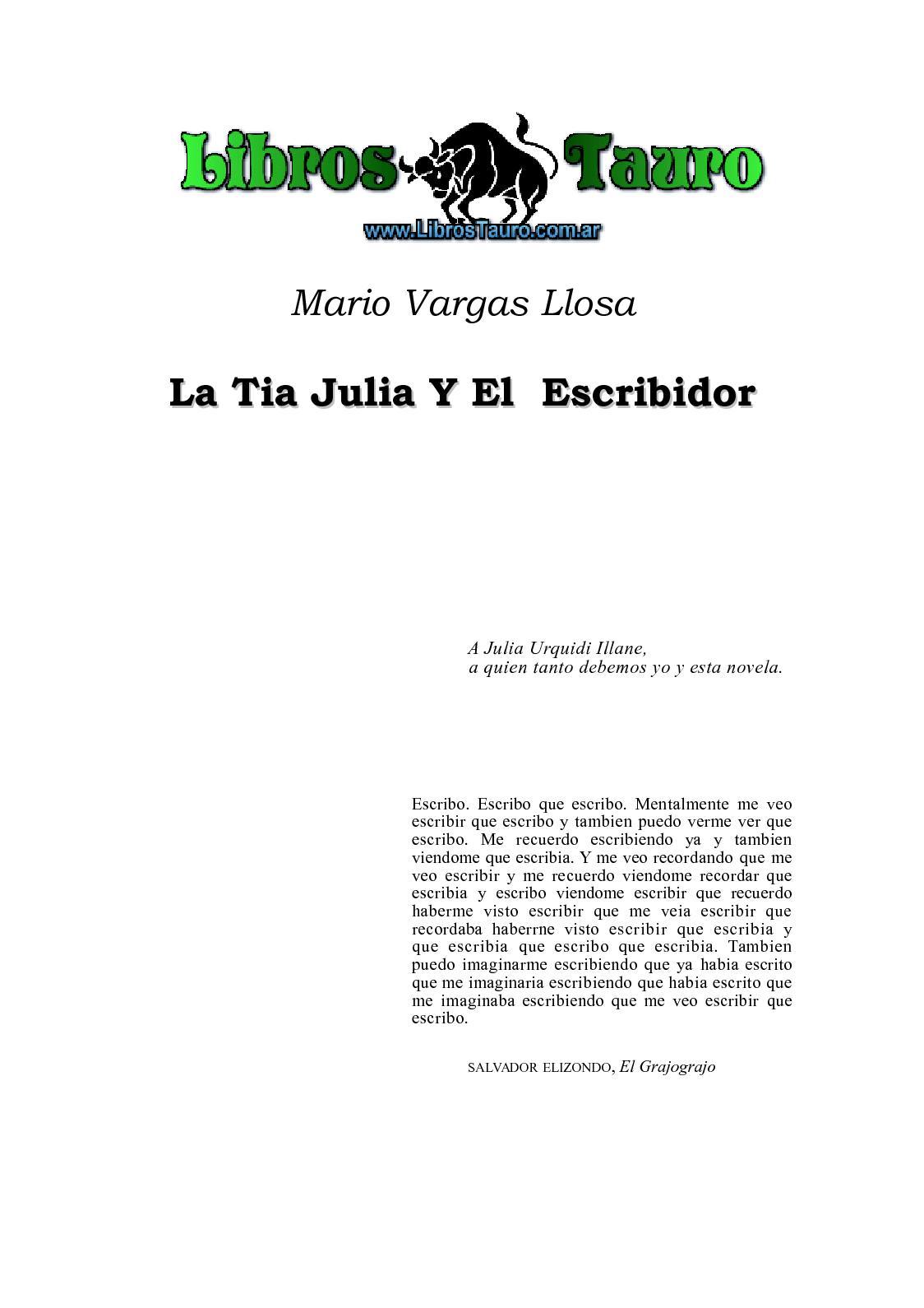 Calaméo - Vargas Llosa, Mario - La Tia Julia Y El Escribidor
