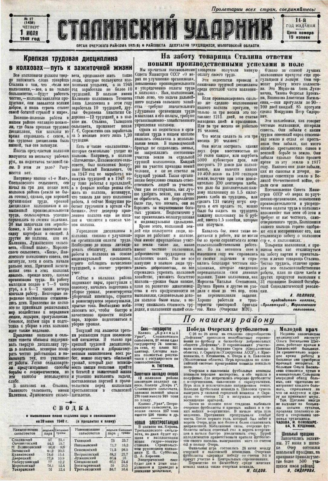 8eb5d1616816 Calaméo - Сталинский ударник. - 1948.. - 2 полугодие.