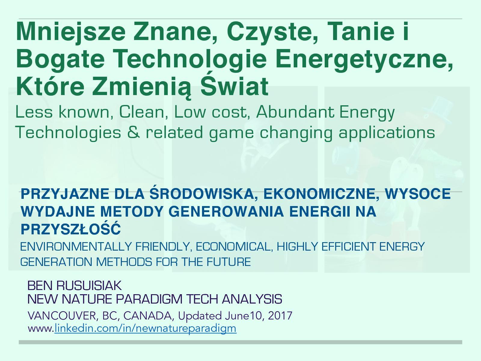Calamo Mniejsze Znane Czyste Tanie I Bogate Technologie Making A Parallel Path Overunity Device Circuit Electronic Energetyczne Ktre Zmieni Wiat Less Known Clean Affordable Abundant Energy Technologies