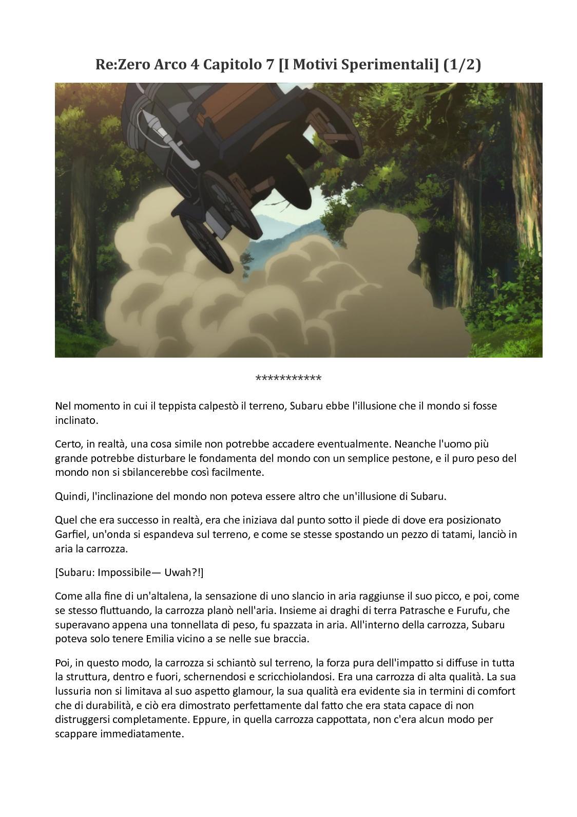 Re Zero Arco 4 Capitolo 7 (1 Di 2)