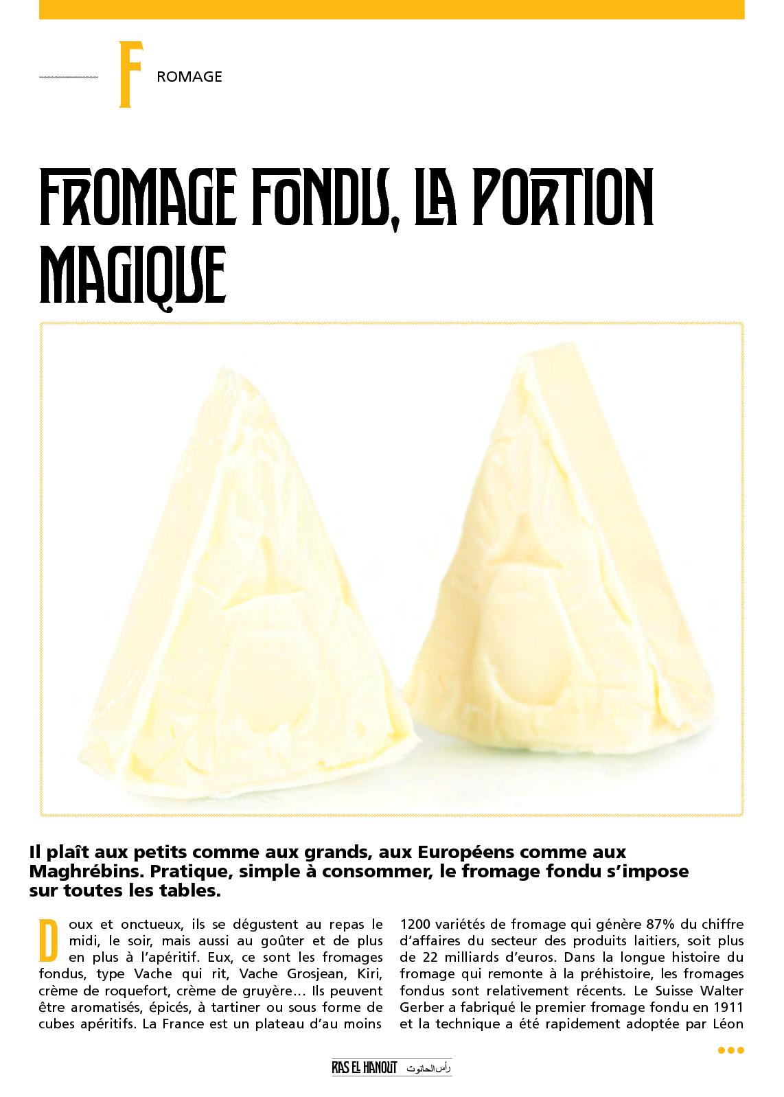 Re H N°6  Fromage Fondu, La Portion Magique