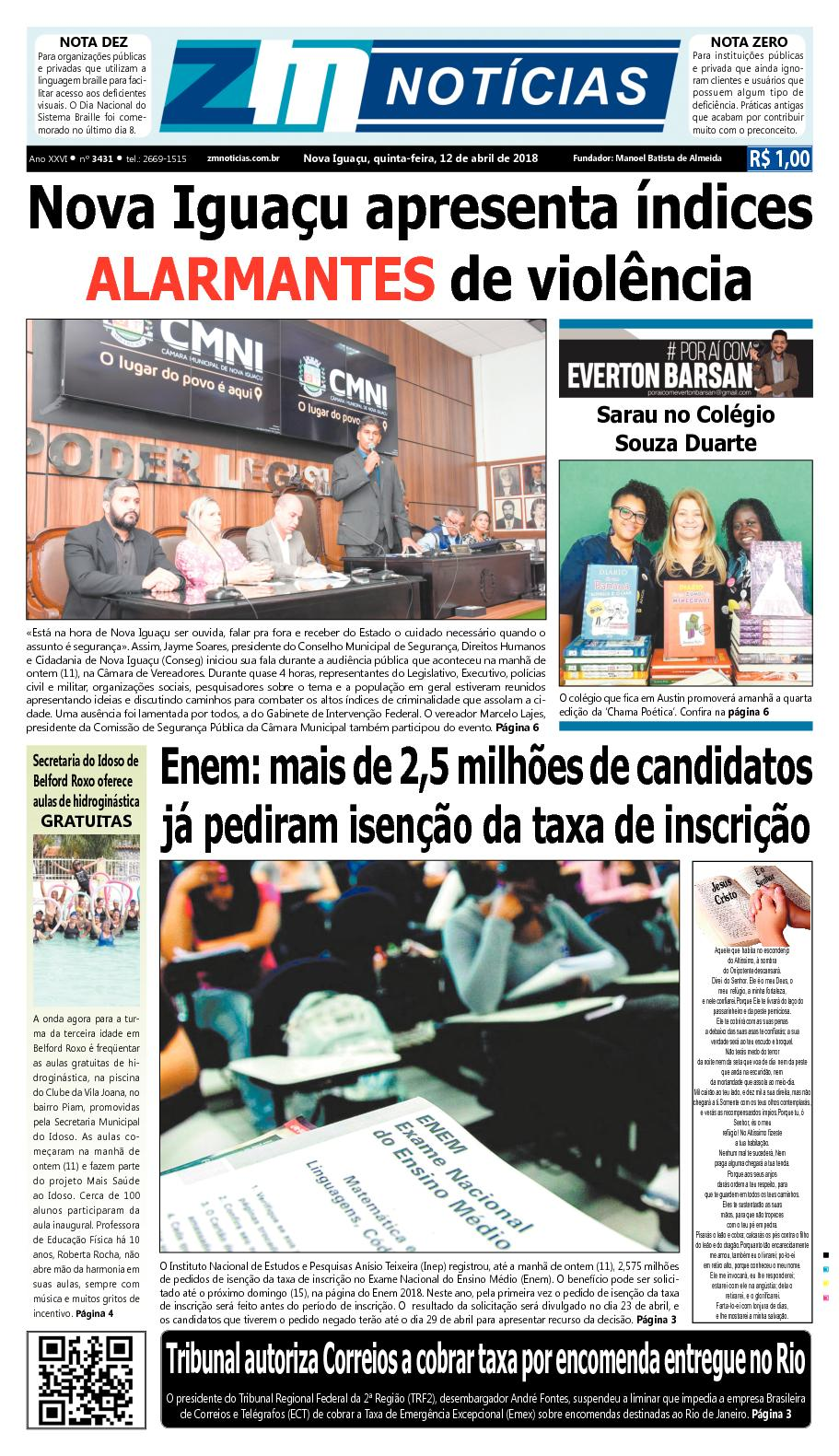 ZM Noticias - Edição 120418