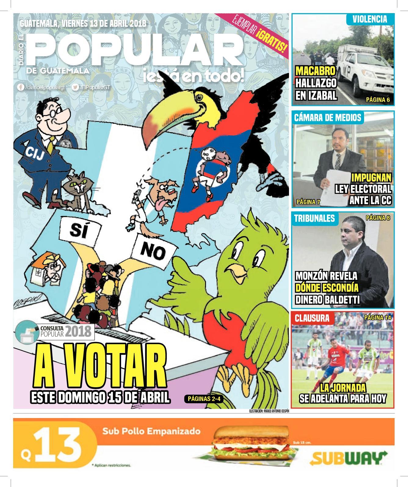 EL POPULAR GUATEMALA 13042018