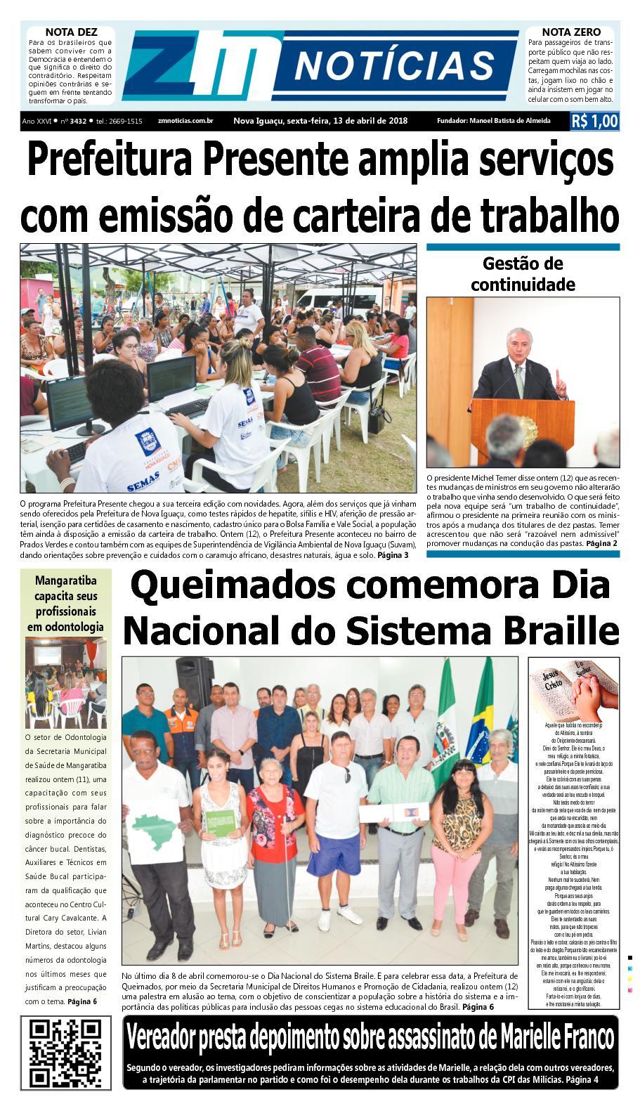 ZM Noticias - Edição 130418
