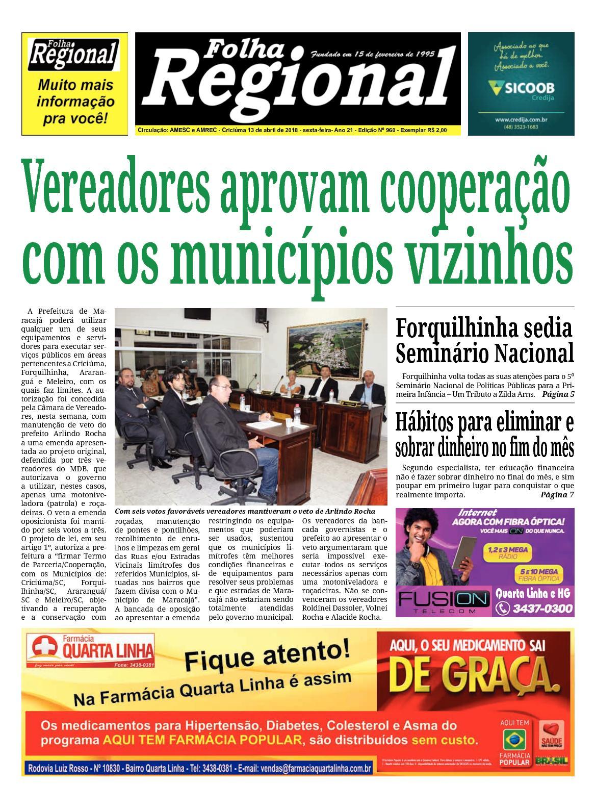Folha Regional Ed.960 - 13/04/2018