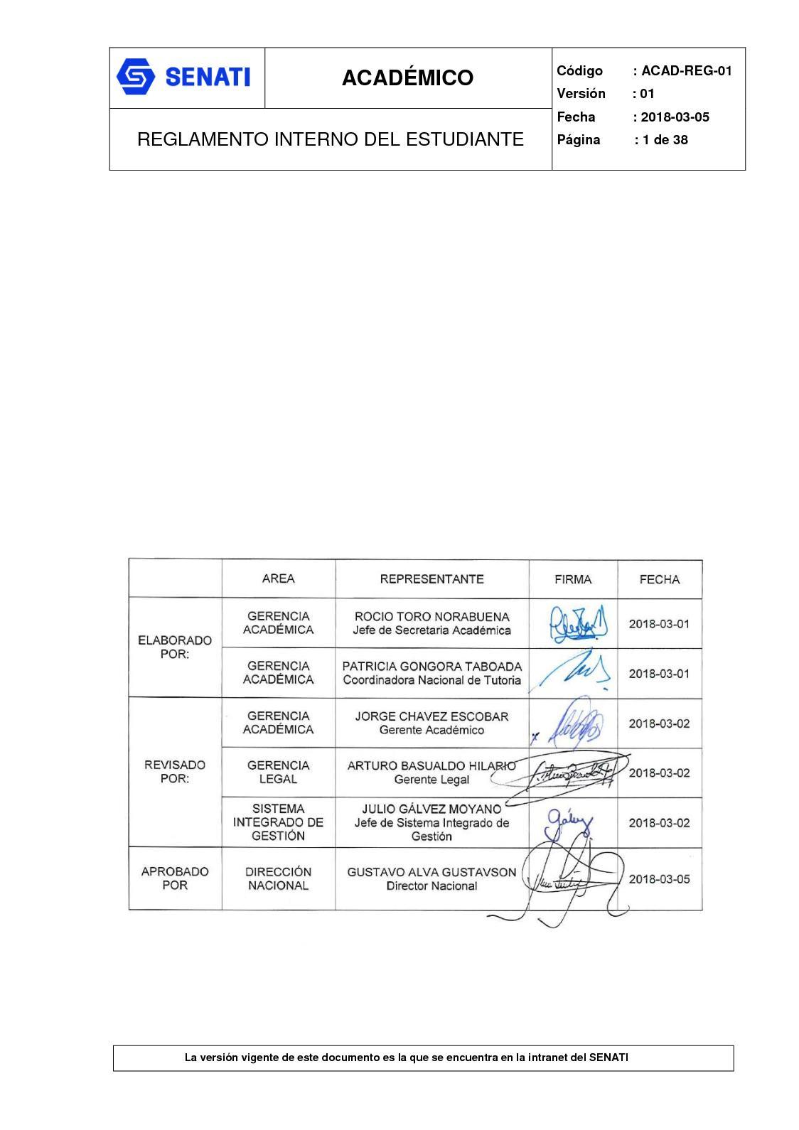 Calaméo - Acad Reg 01 Reglamento Interno Del Estudiante