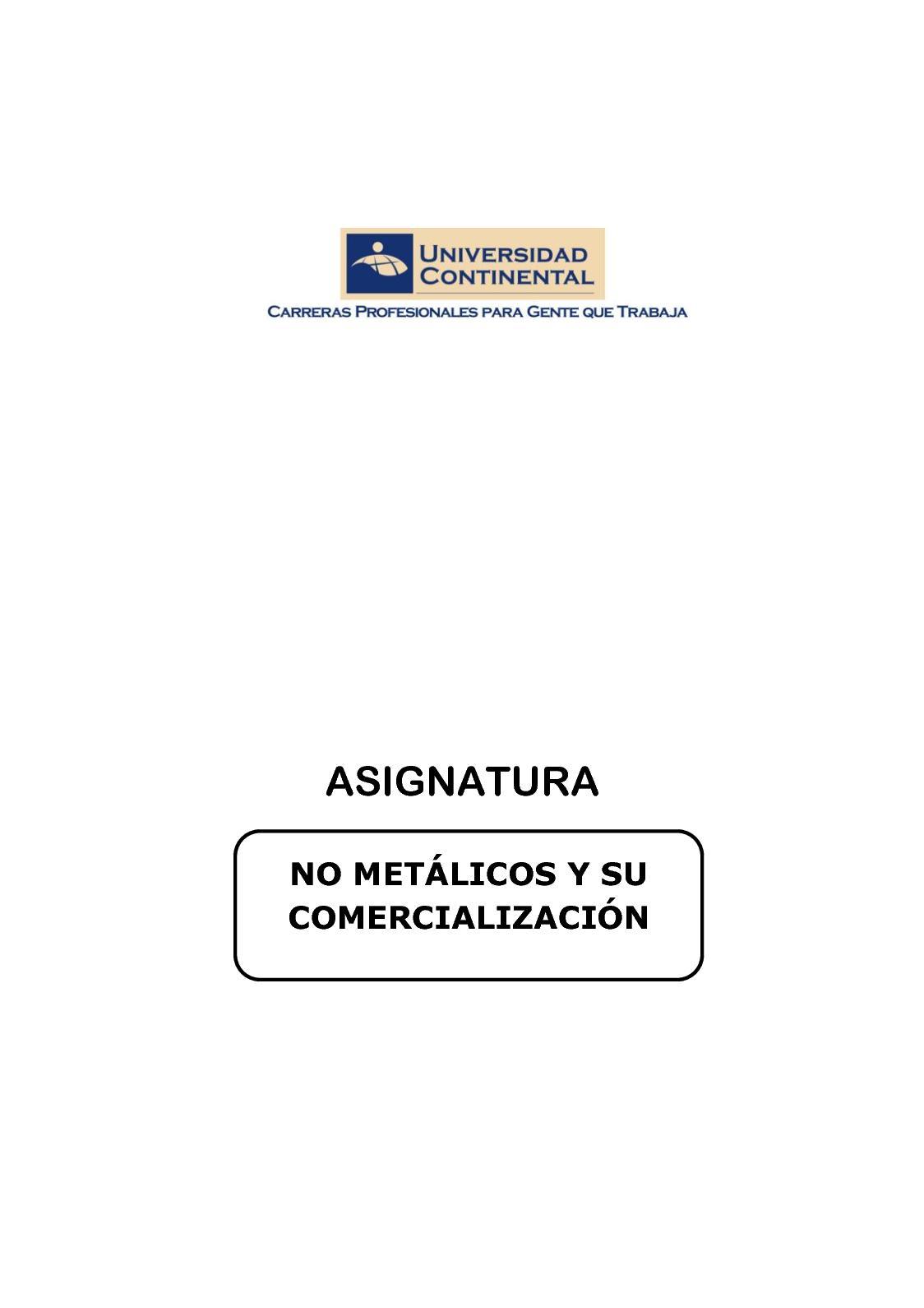 Calaméo - Texto De No Metalicos Y Su Comercialización