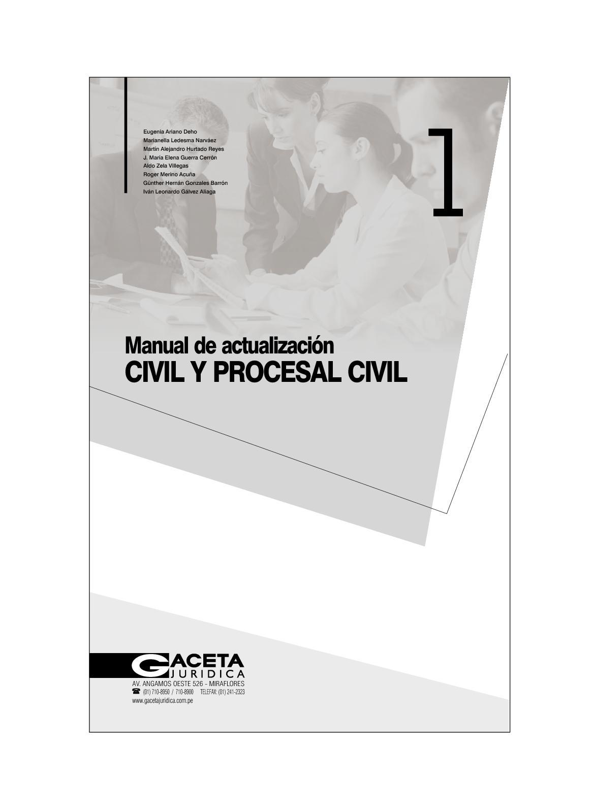 Calaméo - Teoria Manu Actualiza Civil Y Pro Civil Gaceta Jurica