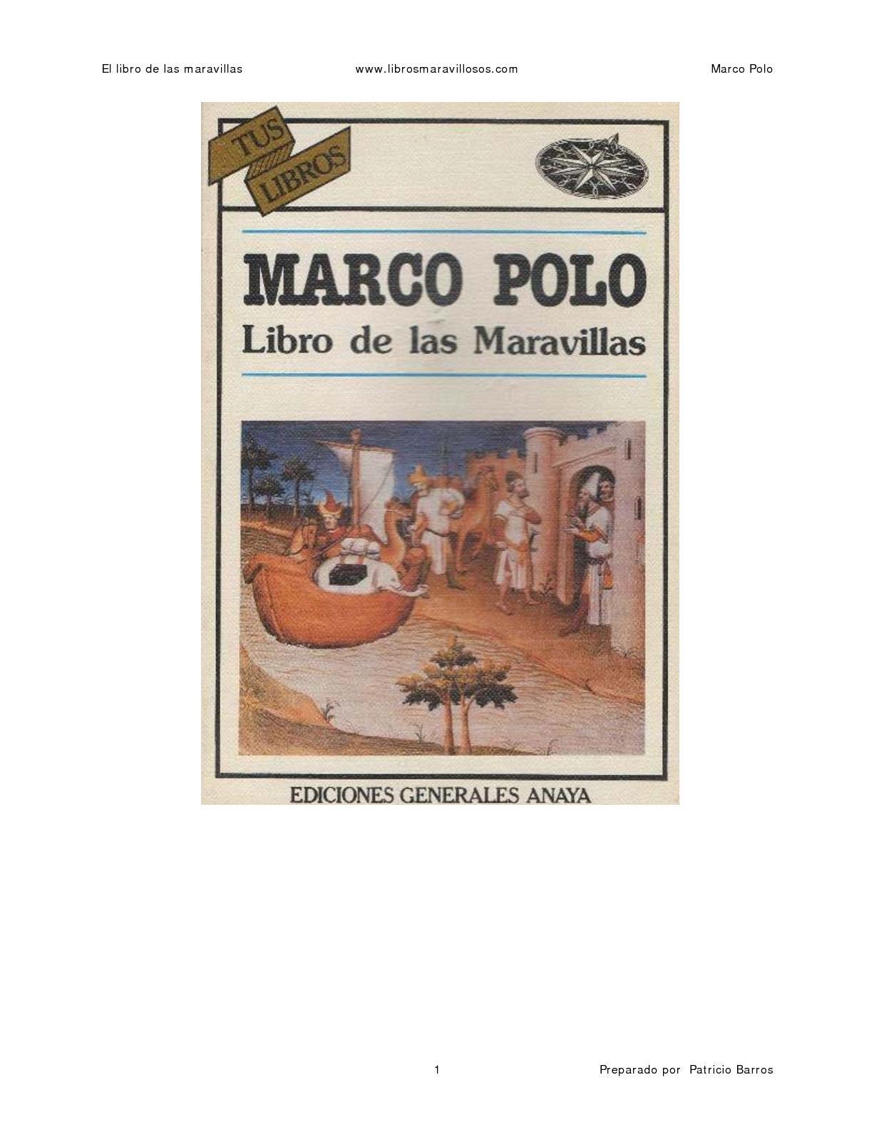 Calaméo - El Libro De Las Maravillas Marco Polo