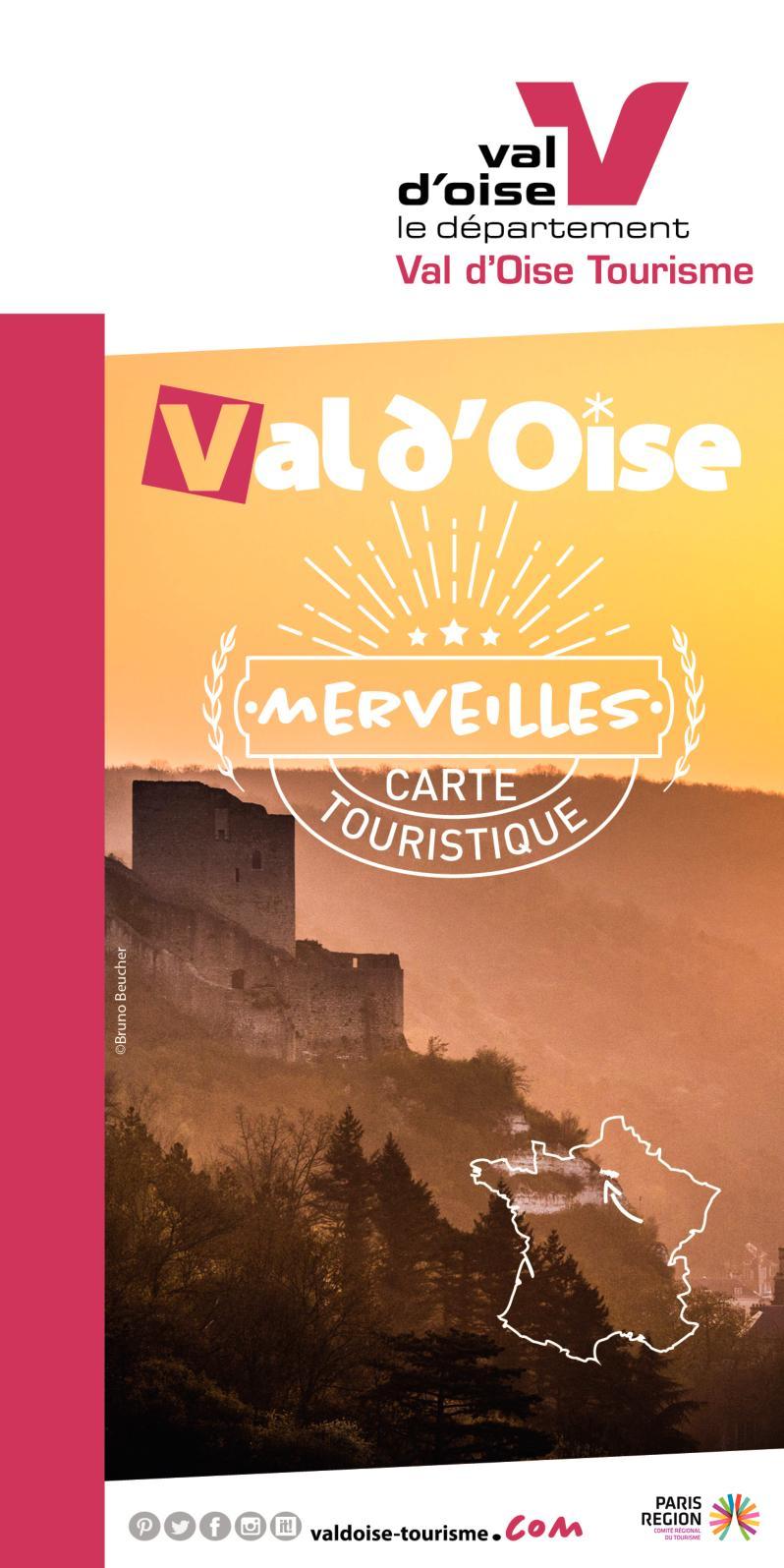 Carte touristique et de randonnées dans le Val d'Oise