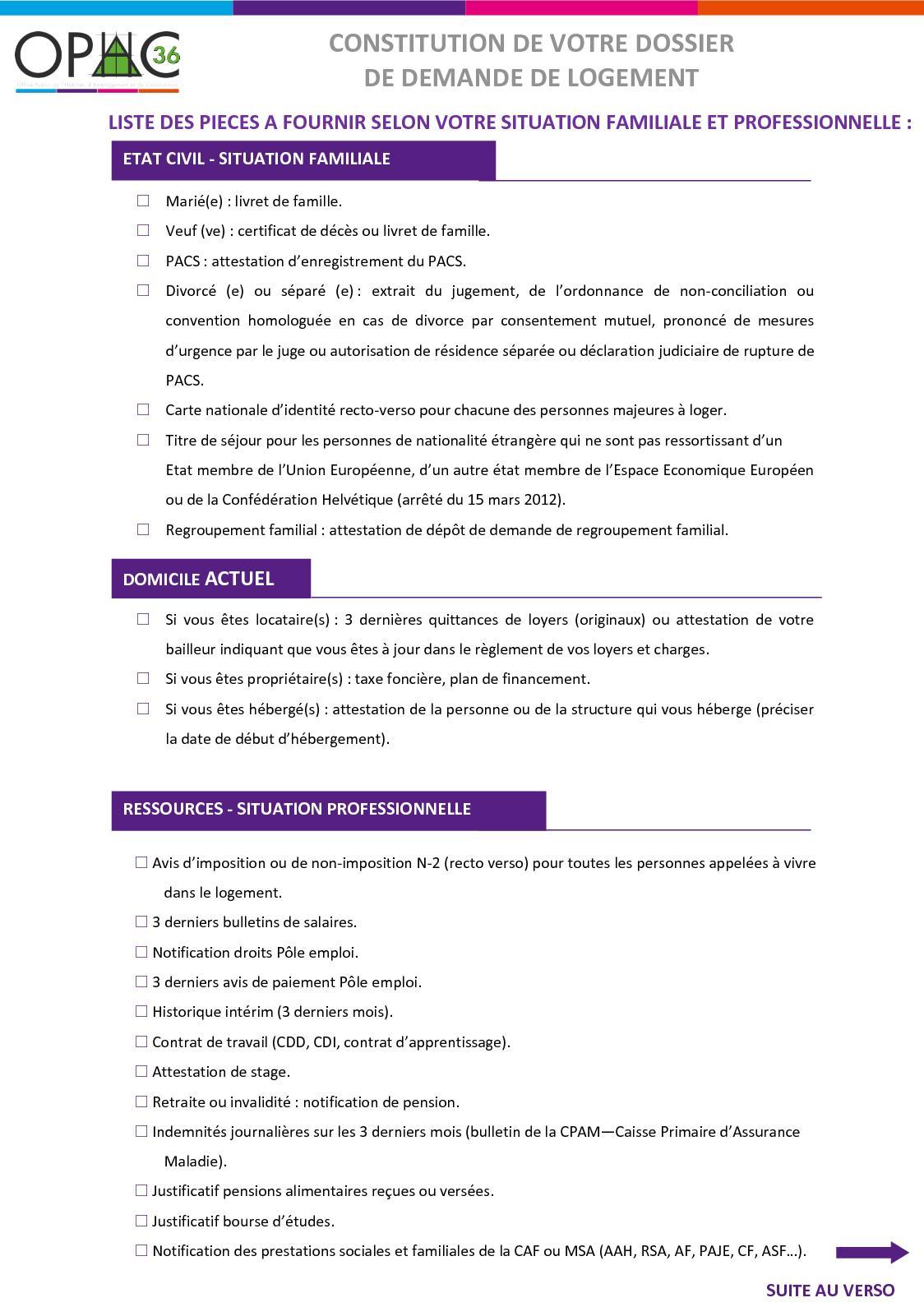 Calameo Liste Des Pieces Justificatives Pour Votre Demande De Logement