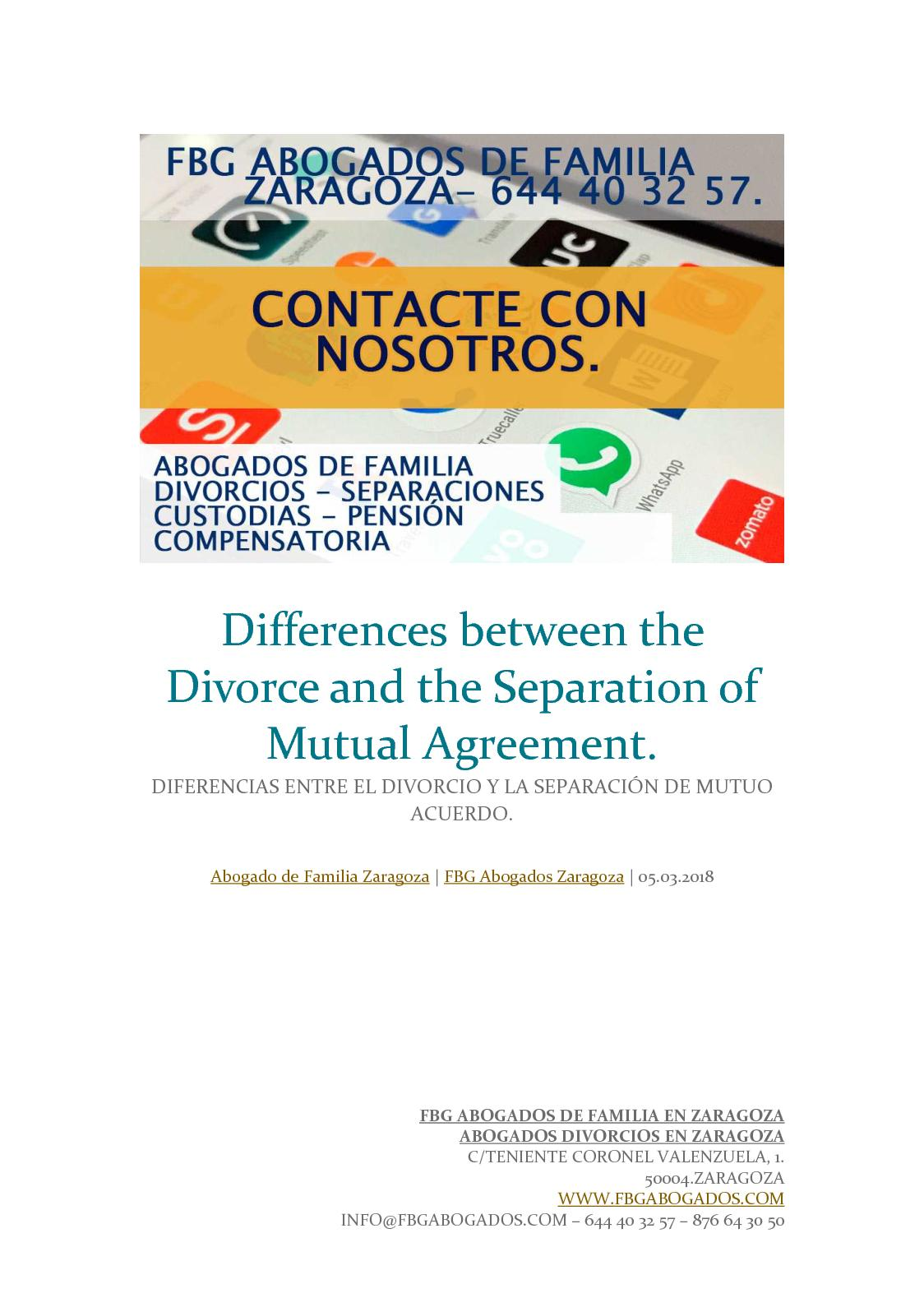 Calamo Differences Between The Divorce And The Separation Of