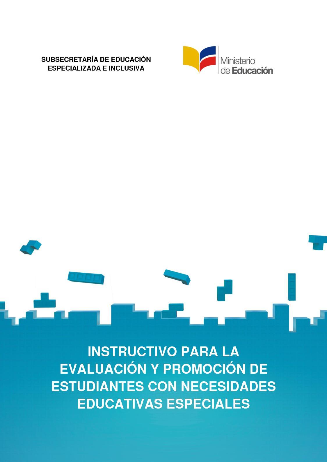 Instructivo De Evaluacion De Estudiantes Con Nee