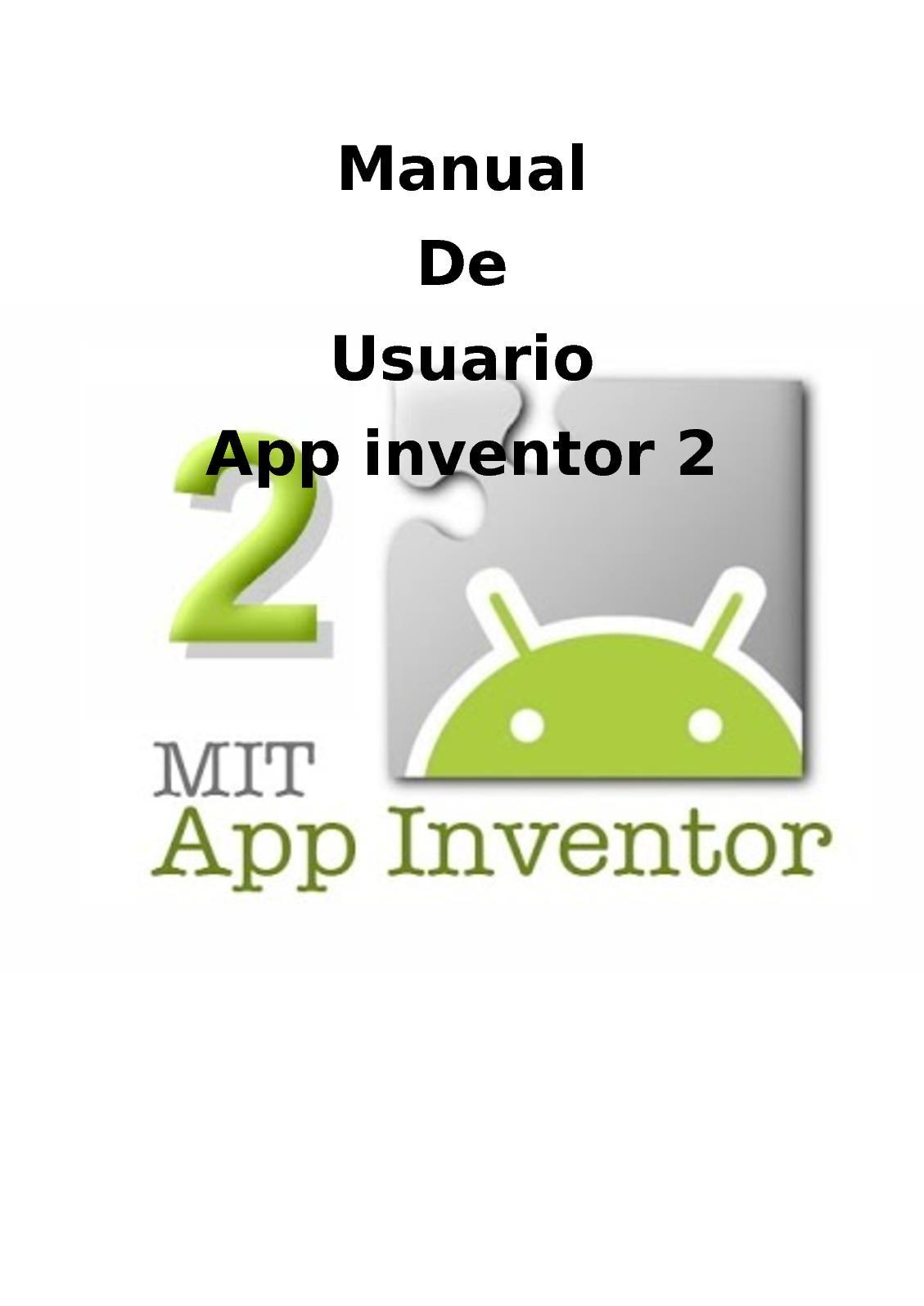 Manual App Inventor 2