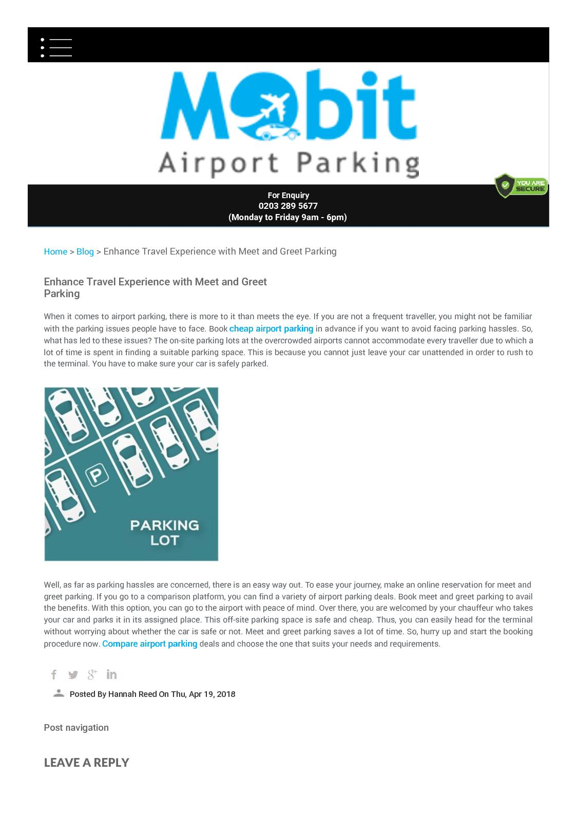 Calamo Enhance Travel Experience With Meet And Greet Parking