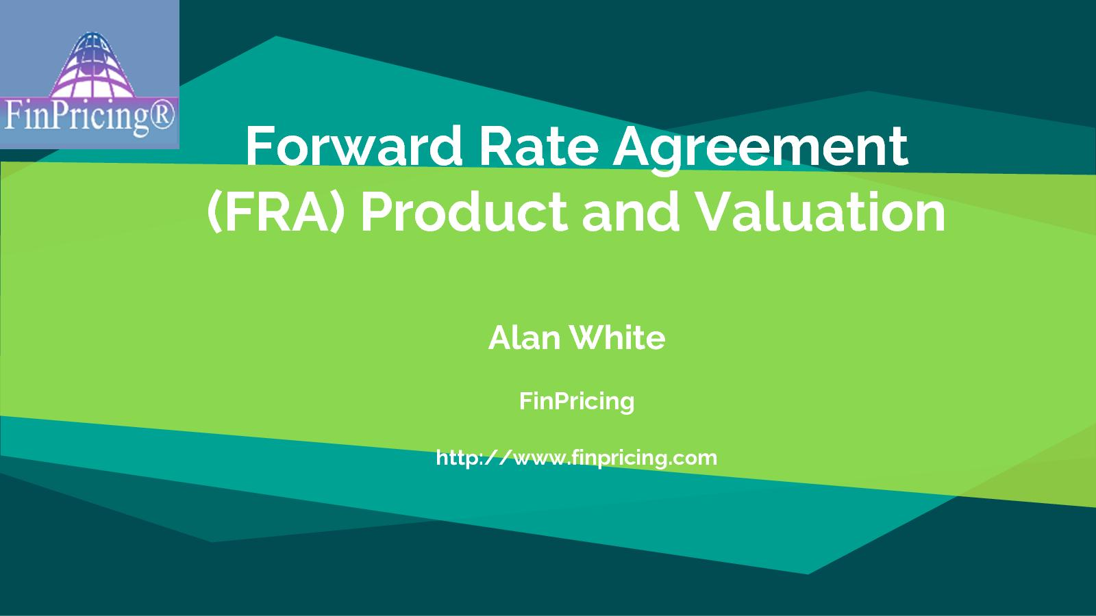 Calamo Introduction To Forward Rate Agreement Fra Product And