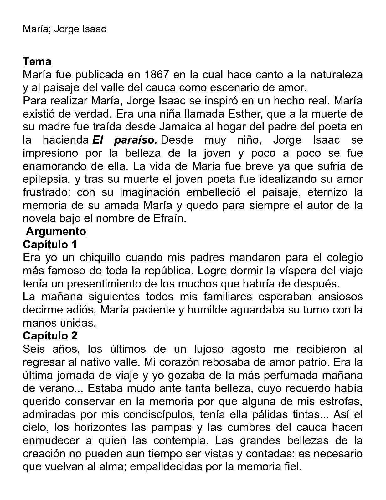 Resumen Capitulo De La María