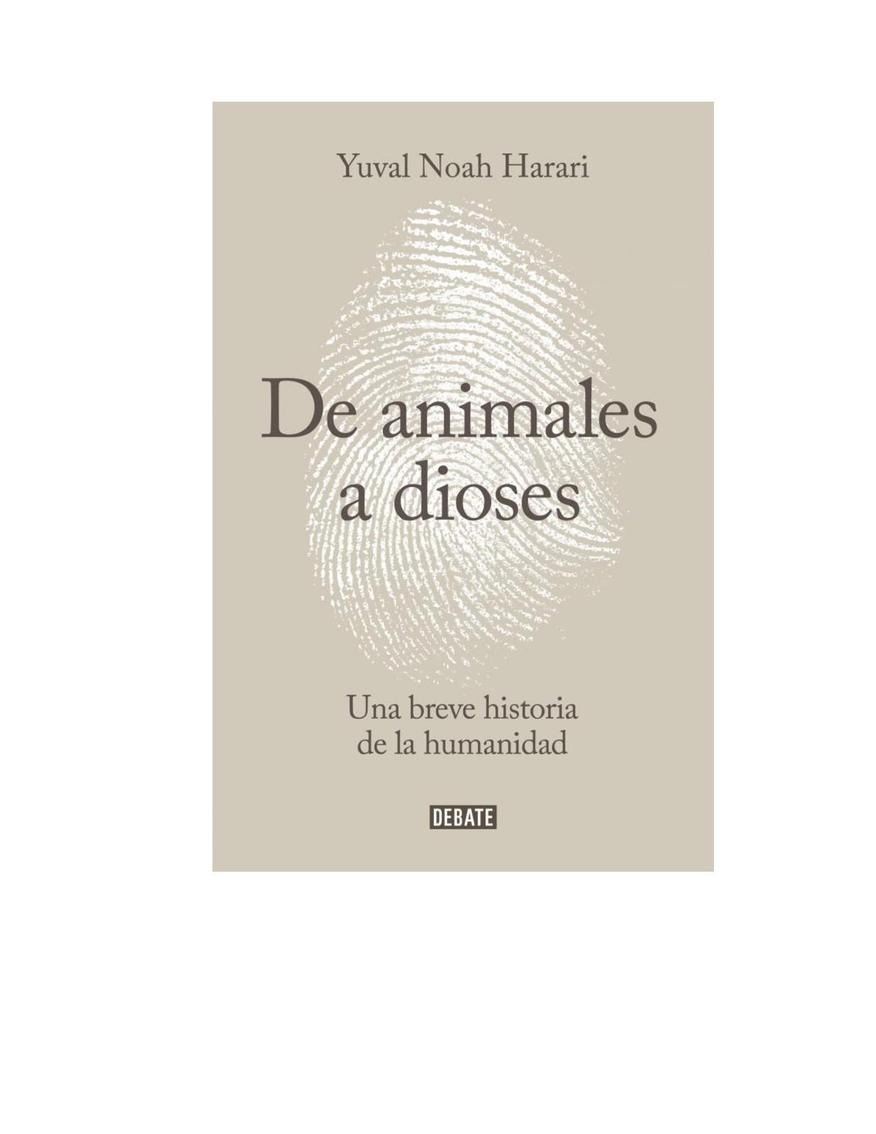 Calaméo - Harari Yuval Noah De Animales A Dioses Una Breve Historia ...