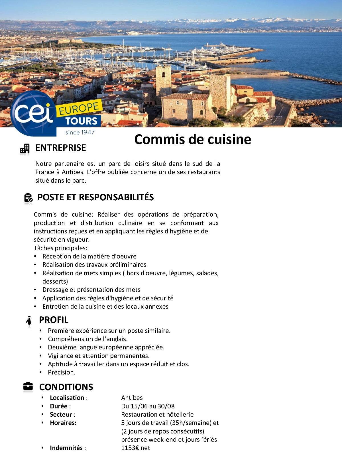 Calameo Work In France Job Offers For This Summer