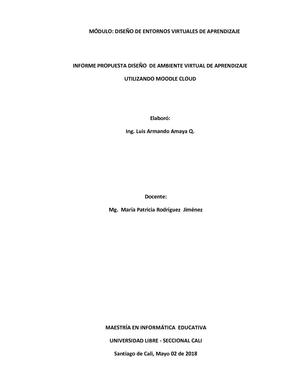 Informe Propuesta Diseño Ambiente Virtual Luis Amaya Final Ok