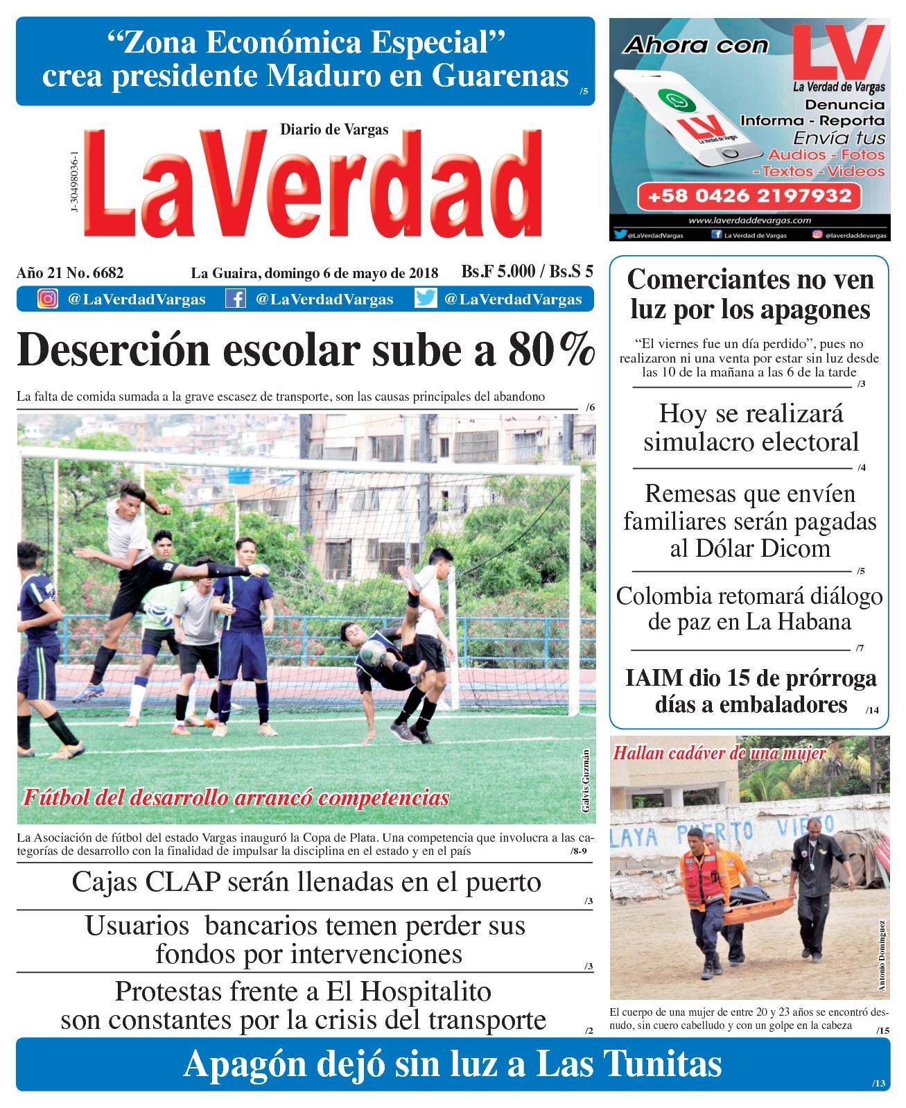 Calaméo - La Guaira, Domingo 6 De Mayo De 2018 Año 20 No 6682