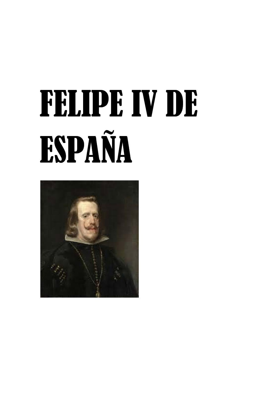 Calaméo - Felipe Iv De España 1